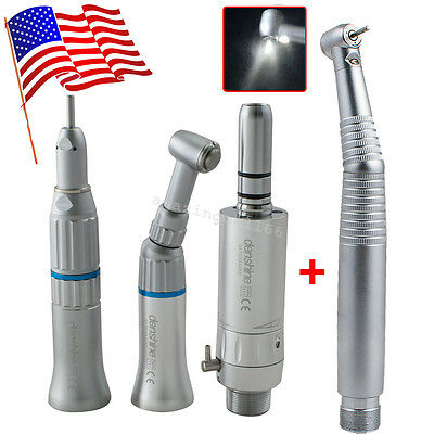 Dental E-generator Led High Low Speed Handpiece Kit 2 Hole 3 Way Turbine Fit Nsk