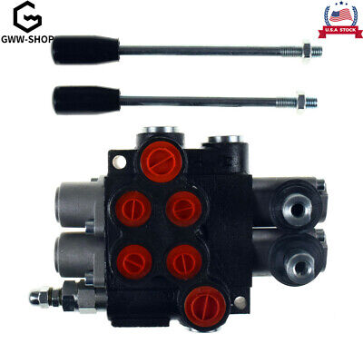 2 Spool Hydraulic Directional Control Valve 11gpm Adjustable Tractors Loaders Us