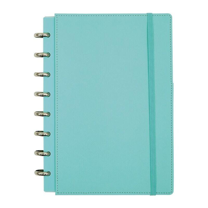 Office by Martha Stewart Discbound Customizable Notebook Junior Size Blue (44468