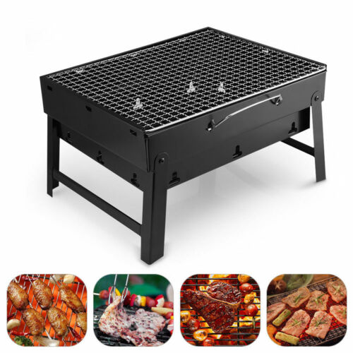 BQQ Tragbarer Klappgrill Holzkohlegrill Outdoor Camping Barbecue Grill Faltbar