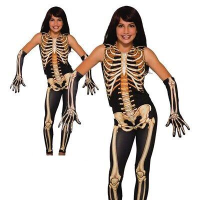 Mädchen Skelett Kostüm Schön Knochen Halloween Kostüm Kind - Knochen Kind Kostüme