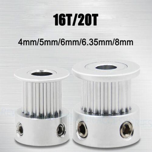 GT2 16/20T Zahnrad Pulley CNC Mendel 3D Drucker Welle Riemenscheibe Zahnriemen