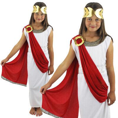 ROMAN GODDESS COSTUME FANCY DRESS GREEK TOGA ATHENA ANCIENT KIDS SCHOOL GOD
