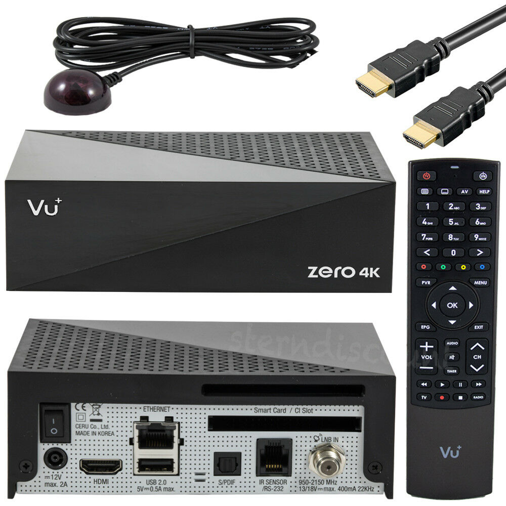 VU+ Zero 4K SAT-Receiver mit 1x DVB-S2X Tuner E2 Linux UHD HDTV IPTV Multistream