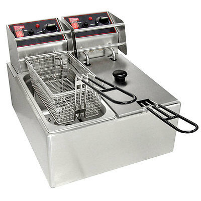 Gmcw El2x6 Electric Deep Fryer Counter Top W Two 6lb Removable Tanks