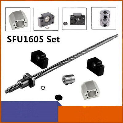 Cnc Ballscrew Sfu1605 Set L250-2000mm Bkbf12 End Ballnut Housing Coupler