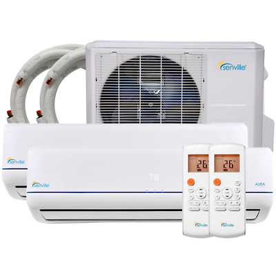 Senville 18000 BTU Mini Split Air Conditioner Dual Zone Duct