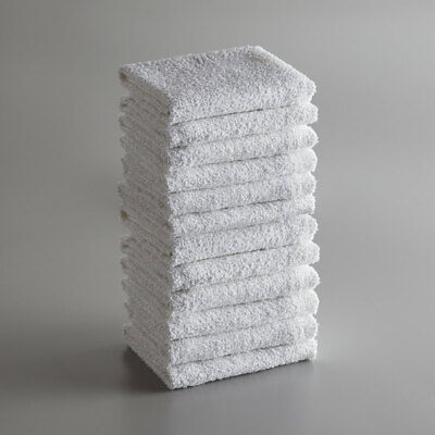 18 X 15 18 Oz. White 100 Cotton Ribbed Terry Bar Towel 12pack