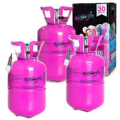 3x Helio para Hasta 30 Globos Heliumflasche Gas para Globos 150 Litros...