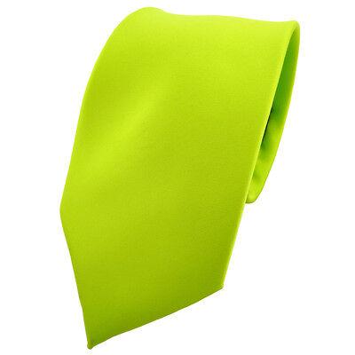TigerTie Krawatte grün neongrün leuchtgrün einfarbig Polyester - Tie Binder