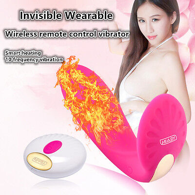 Female Wearable Wireless Remote Control Heating-Up Powerful Massager in Panty