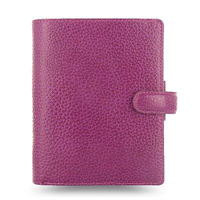 Filofax Pocket Size Finsbury Organiser Diary Book Raspberry Leather 025342 Chic