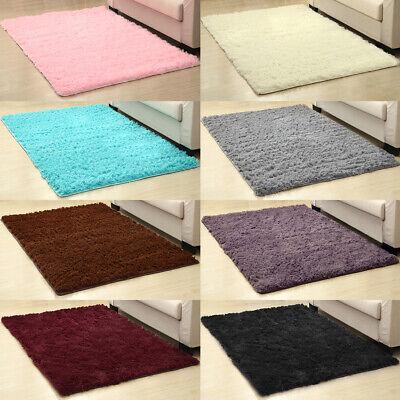 Fluffy Rugs Anti-Skid Shaggy Area Rug Living Room Bedroom Floor Mat Carpet 6Size Field Floor Mat