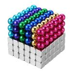 216 STKS 5mm Cube Buck Bal Mixcolour Magnetisch Speelgoed