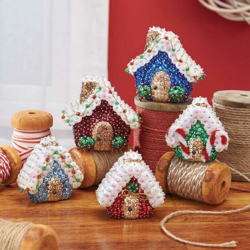Sunrise Craft & Hobby™ Village Houses Ornament Kit