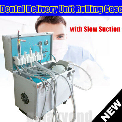 Dental Portable Delivery Unit Rolling Caseweak Suctionair Compressorscale Usa