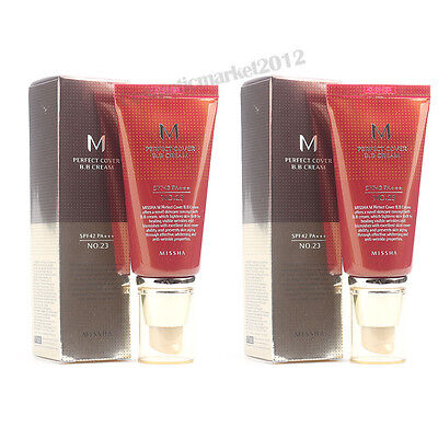 MISSHA M Perfect Cover BB Cream 50ml #23 2pcs Free gifts wholesale
