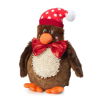 House of Paws 2 in 1 Christmas Turkey Dog Toy with Removable Bow Tie | Squeaky