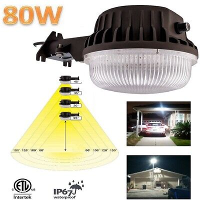 (Led Yard Light Area 80 Watts Outdoor Security Photocell Dusk To Dawn 8500 Lumen )