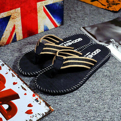 GDCHENYI  Men Car Line Word Slippers Flip Flops Shoes Sandals Male Slipper