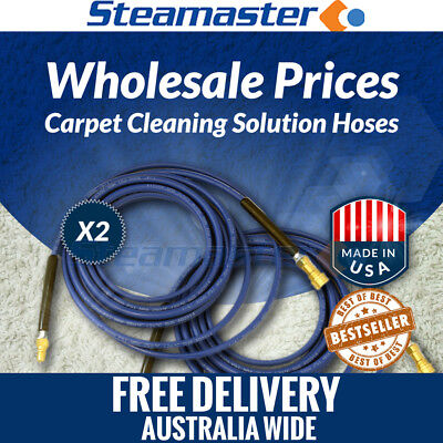 Commercial Carpet Cleaning Equipment 2 x Solution Hose 3000PSI 15m SALE