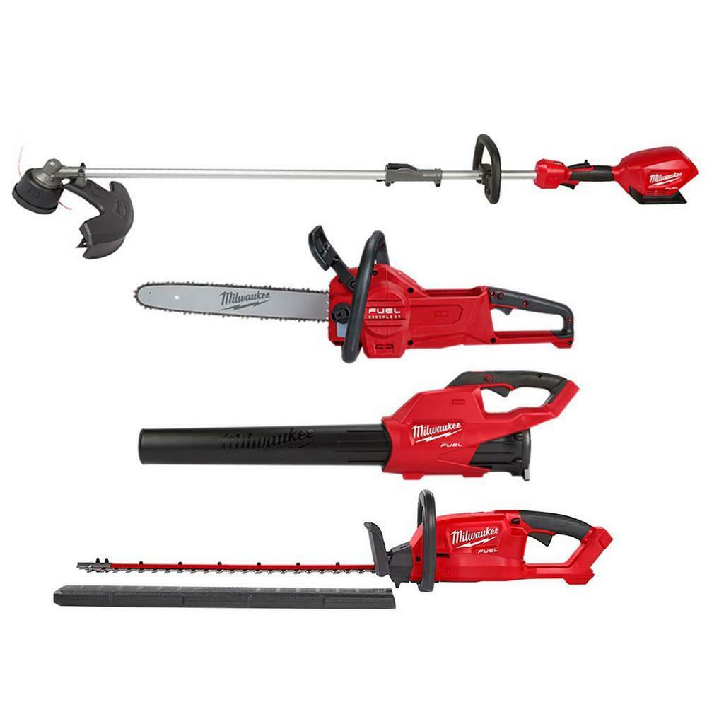 Milwaukee Cordless String Trimmer Blower Hedge Trimmer Chain