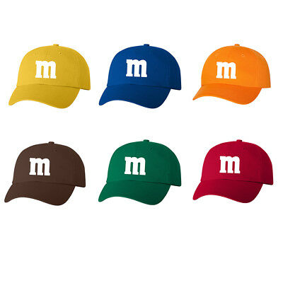 M & M Halloween Costume Dad Hat Cap M and M Group Hats Costumes New - Halloween M&m Costume