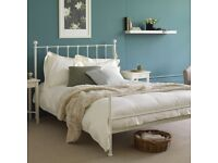 King Size Metal Bed Frame - Feather & Black, White