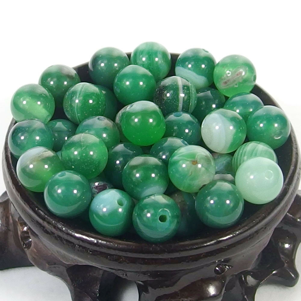 Bulk Gemstones I natural spacer stone beads 4mm 6mm 8mm 10mm 12mm jewelry design green agate