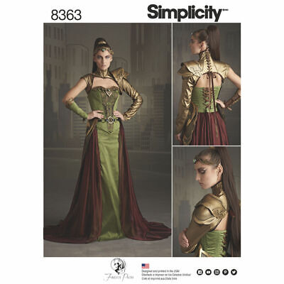 Female Elf Halloween Costumes (Simplicity 8363 Women Fantasy Elf Ranger Halloween Cosplay Costume Pattern)