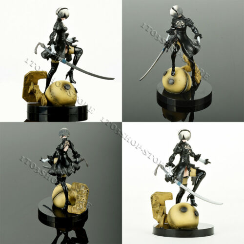 "Nier Automata 2B YoRHa No.2 Type B Neal Action Figure Statue Toy 5.9"" Gift Decor"