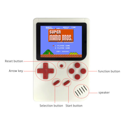 """как выглядит Handheld Game Console 3.0"""" Retro FC TV Game 500 Games Portable Game Players Best фото"""