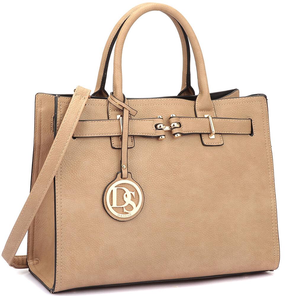Dasein Women Handbags Faux Leather Satchel Tote Bags Shoulde