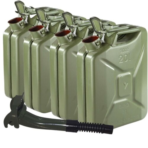 Used NATO Jerry Can Lot ~ 4 Pack w/ New Spout Nozzle
