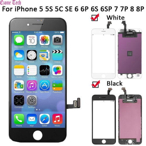 iPhone LCD Touch Screen Digitizer Replacement for 5 5C 5S SE 6 6S Plus 7 8 Plus