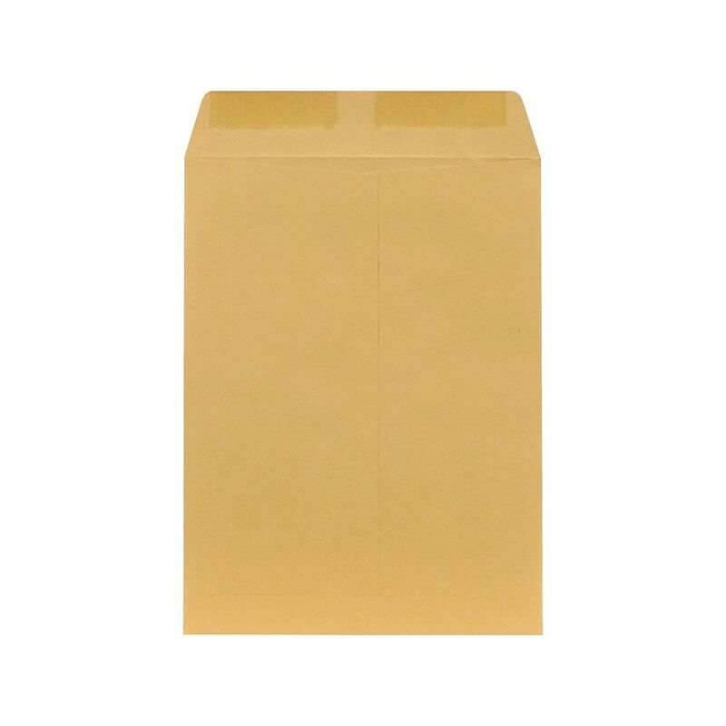 "Staples 9"" x 12"" Brown Kraft Catalog Envelopes 250/Box (486940/17032)"