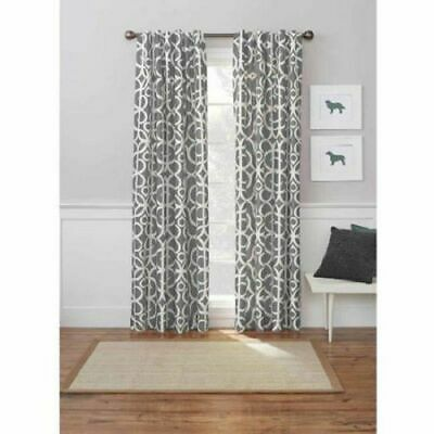 NEW Better Homes & Gardens Marissa Curtain Panel (1) Room Darkening GRAY 54 x