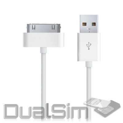 usb kabel datenkabel für ipad 2 ipod 4 iPhone 4 4S 3G Ladekabel Weiss Ladegerät