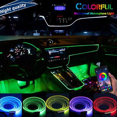 Multicolor Car LED RGB Interior EL Neon Strip atmosphere light APP Phone Control