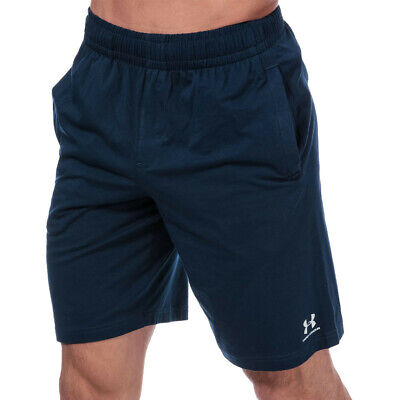 Under Armour Mens Sportstyle Cotton Shorts Pants Trousers Bottoms Blue Sports