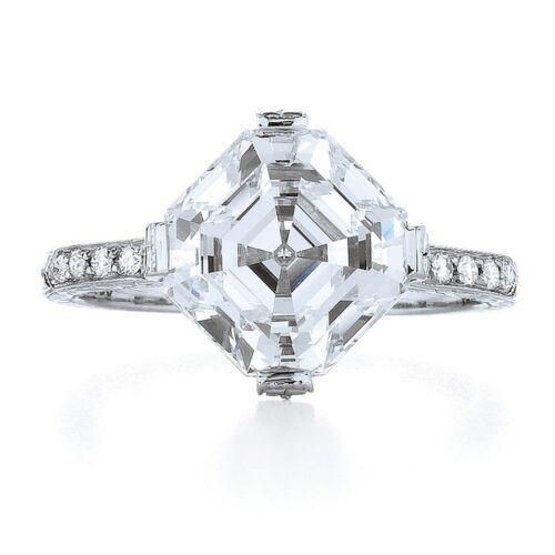 18k White Gold 2.00 Carat GIA Certified Asscher Cut Diamond Engagement Ring