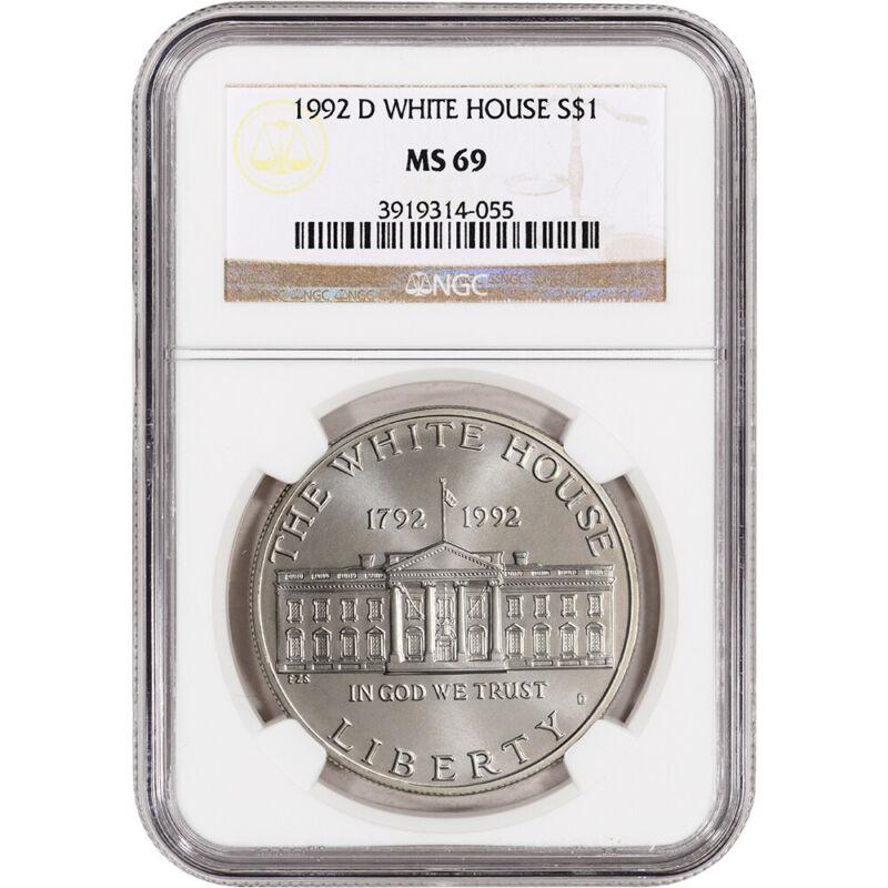 1992-D US White House Commemorative BU Silver Dollar - NGC MS69