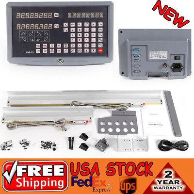 2 Axis Digital Readout Milling Lathe Machine Dro Kit Precision Linear Scale Ups