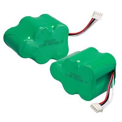 2Pcs Real Capacity 6V 3.5Ah Vacuum cleaner battery for ECOVACS deebot D650 D660