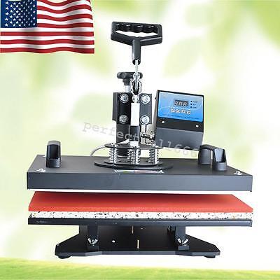 8 In 1 Heat Press Machine Digital T-shirt Mug Plate Transfer Sublimation Usaca