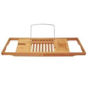 New  ToiletTree Products Bamboo Wooden Bathtub Caddy Condition: New  with Extending Sides and Adjustable Book Holder