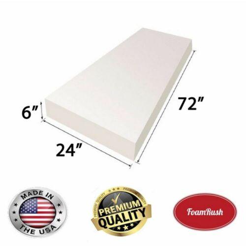 "Foamrush 6""x24""x72"" High Density Upholstery Foam Cushion (made In Usa)"