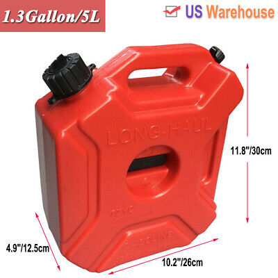 1.3gallon5l Fuel Can Gas Fuel Tank Petrol Storage Container For Motorcyclecar