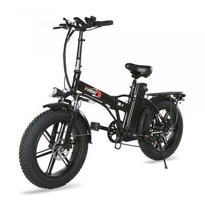 20 Zoll faltbares E Bike Faltrad Klapprad Fatbike mit BLINKER 500W 48V 15Ah