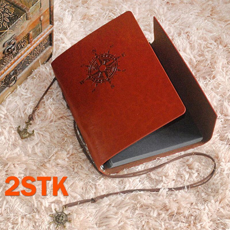 Vintage Notizbuch Lederbuch Tagebuch Leder Heft Notiz Reisetagebuch Kladde Blatt
